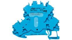 Złączka 2-piętrowa 2,5mm2 N niebieska 2002-2209 TOPJOBS -54207