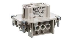 Wkład złącza 6P+PE śrubowy żeński EPIC H-BE 6 BS 10191100-23155