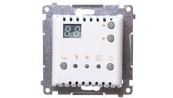 Simon 54 Termostat cyfrowy z wewnętrznym czujnikiem temperatury (moduł) pierścień biały DTRNW.01/11-20349