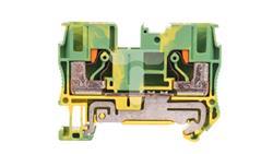 Złączka szynowa ochronna 2-przewodowa 6mm2 żółto-zielona Ex PT 6-PE 3211822-43051