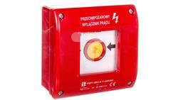 Przycisk ppoż. natynkowy samoczynny 1Z 1R czerwony PWP1-W01-A-11-230-41129