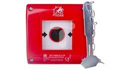 Przycisk ppoż. podtynkowy 1Z 1R czerwony z młotkiem OP1-W02-A-11-M-41150