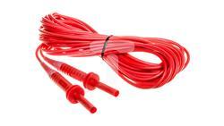 Przewód pomiarowy 10m czerwony 5kV /wtyki bananowe/ WAPRZ010REBB5K-47289