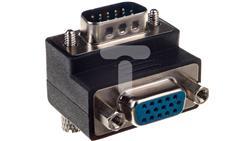 Adapter VGA D-Sub15 (F) - VGA D-Sub15 (M) kątowy 90stopni-30233