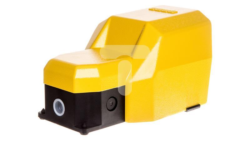Wyłącznik nożny pojedynczy z osłoną żółty metal 1Z 1R   2Z 2R 2 kroki T0-PDKS11UX20-17874