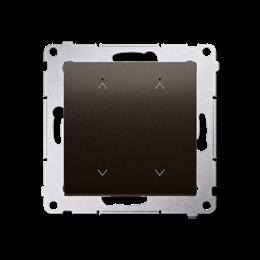 Łącznik/Przycisk roletowy podwójny elektroniczny brąz matowy 6A-252632