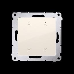 Łącznik/Przycisk roletowy podwójny elektroniczny kremowy 6A-252638