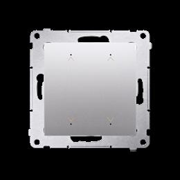 Łącznik/Przycisk roletowy podwójny elektroniczny srebrny mat, metalizowany 6A-252641