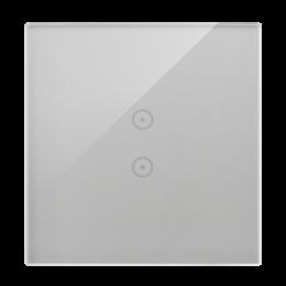 Panel dotykowy 1 moduł 2 pola dotykowe pionowe, srebrna mgła-251716