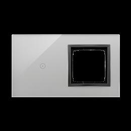 Panel dotykowy 2 moduły 1 pole dotykowe, otwór na osprzęt Simon 54, burzowa chmura-251854