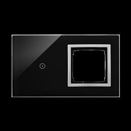 Panel dotykowy 2 moduły 1 pole dotykowe, otwór na osprzęt Simon 54, księżycowa lawa-251885