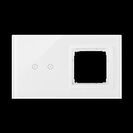 Panel dotykowy 2 moduły 2 pola dotykowe poziome, otwór na osprzęt Simon 54, biała perła-251856
