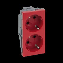 Gniazdo podwójne SIMON 500 SCHUKO 16A 250V szybkozłącza/nożowe 100×50mm czerwony-256296