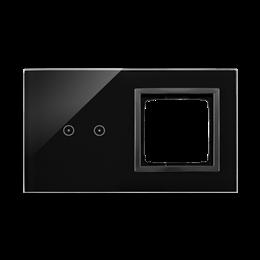 Panel dotykowy 2 moduły 2 pola dotykowe poziome, otwór na osprzęt Simon 54, zastygła lawa-251858
