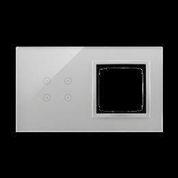 Panel dotykowy 2 moduły 4 pola dotykowe, otwór na osprzęt Simon 54, srebrna mgła-251859