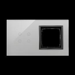 Panel dotykowy 2 moduły 4 pola dotykowe, otwór na osprzęt Simon 54, burzowa chmura-251860