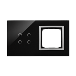 Panel dotykowy 2 moduły 4 pola dotykowe, otwór na osprzęt Simon 54, księżycowa lawa-251887