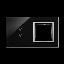 Panel dotykowy 2 moduły 2 pola dotykowe pionowe, otwór na osprzęt Simon 54, księżycowa lawa-251888