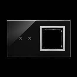 Panel dotykowy 2 moduły 2 pola dotykowe poziome, otwór na osprzęt Simon 54, księżycowa lawa-251889