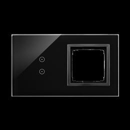 Panel dotykowy 2 moduły 2 pola dotykowe pionowe, otwór na osprzęt Simon 54, zastygła lawa-251863