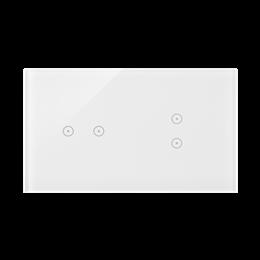 Panel dotykowy 2 moduły 2 pola dotykowe poziome, 2 pola dotykowe pionowe, biała perła-251721