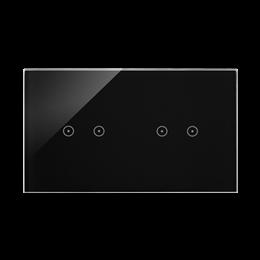 Panel dotykowy 2 moduły 2 pola dotykowe poziome, 2 pola dotykowe poziome, zastygła lawa-251734