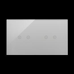 Panel dotykowy 2 moduły 2 pola dotykowe poziome, 2 pola dotykowe poziome, srebrna mgła-251735