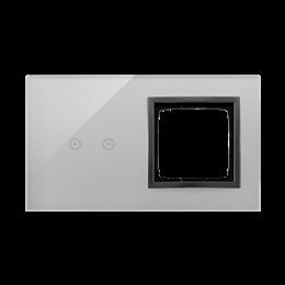 Panel dotykowy 2 moduły 2 pola dotykowe poziome, otwór na osprzęt Simon 54, burzowa chmura-251865