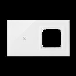 Panel dotykowy 2 moduły 1 pole dotykowe, otwór na osprzęt Simon 54, biała perła-251866