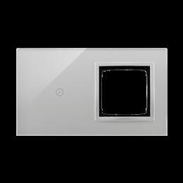 Panel dotykowy 2 moduły 1 pole dotykowe, otwór na osprzęt Simon 54, srebrna mgła-251867