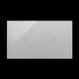Panel dotykowy 2 moduły 1 pole dotykowe, 1 pole dotykowe, srebrna mgła-251722