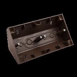 Puszka natynkowa narożna 2-krotna brąz mat, metalizowany-251679