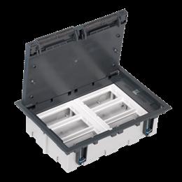 Puszka podłogowa SF prostokątna 12×K45 6×S500 93mm÷128mm szary-255953