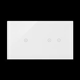 Panel dotykowy 2 moduły 1 pole dotykowe, 2 pola dotykowe poziome, biała perła-251725