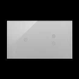 Panel dotykowy 2 moduły 1 pole dotykowe, 2 pola dotykowe pionowe, srebrna mgła-251739