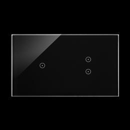Panel dotykowy 2 moduły 1 pole dotykowe, 2 pola dotykowe pionowe, zastygła lawa-251740
