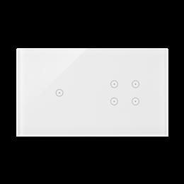 Panel dotykowy 2 moduły 1 pole dotykowe, 4 pola dotykowe, biała perła-251726