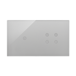 Panel dotykowy 2 moduły 1 pole dotykowe, 4 pola dotykowe, srebrna mgła-251741