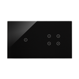 Panel dotykowy 2 moduły 1 pole dotykowe, 4 pola dotykowe, zastygła lawa-251742
