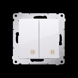 Łącznik krzyżowy podwójny (moduł) 10AX 250V, szybkozłącza, biały-252297