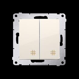 Łącznik krzyżowy podwójny (moduł) 10AX 250V, szybkozłącza, kremowy-252298