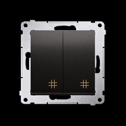 Łącznik krzyżowy podwójny (moduł) 10AX 250V, szybkozłącza, antracyt, metalizowany-252302