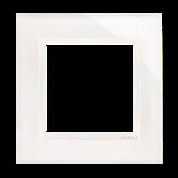 Ramka 1-krotna szklana biała perła-251460