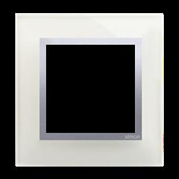 Ramka 1-krotna szklana srebrna mgła-251463
