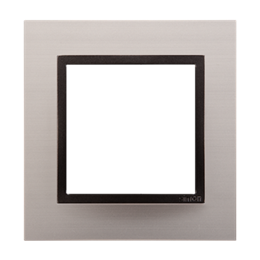 Ramka 1- krotna metalowa satynowy mrok-251471