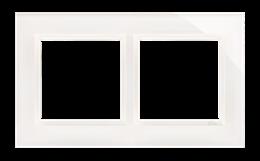 Ramka 2- krotna szklana biała perła-251475