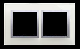 Ramka 2- krotna szklana srebrna mgła-251483