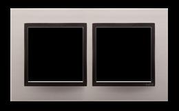 Ramka 2- krotna metalowa satynowy mrok-251491