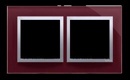Ramka 2- krotna szklana kusząca śliwka-251482