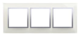 Ramka 3- krotna szklana srebrna mgła-251498